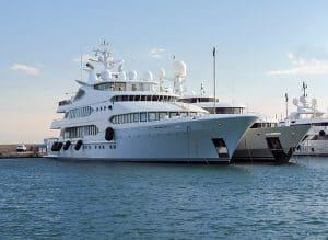 mouillage yacht